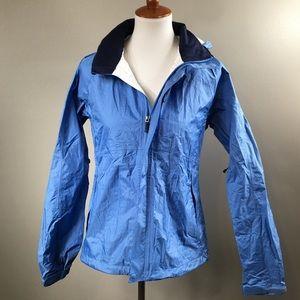 REI All Weather Rain Jacket Light Blue Adjustable